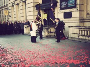 Armistice Day commemorations in Liverpool. Pic by Emma White © JMU Journalism