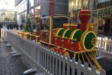 A giant Lego steam train has arrived at Liverpool One ready for the festive season.