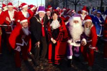 The title of the biggest Santa Dash worldwide has returned to Liverpool as BTR's 13th annual event returned to town.
