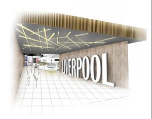 Artist's impression of the new entrance into the Departure Lounge. Pic © LJLA