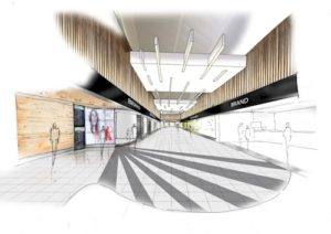 Artist's impression of part of the refurbished and upgraded 3rd floor retail area. Pic © LJLA