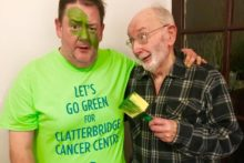Comedian Johnny Vegas urges people to join the Let's Go Green campaign for The Clatterbridge Cancer Centre.
