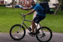 A man is completing a cycling and running trip across three counties to raise money for the CLOUD charity.