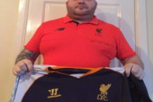 A lifelong Liverpool fan has promised to get the crest of rivals Manchester United tattooed on his body.