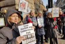 Controversial plans were approved by the council for the construction of 51 homes near Calderstones Park after a day of protests.