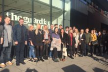 JMU Journalism students visited the headquarters of the Guardian and ITN during a trip to London.