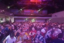 Hundreds of NFL fans packed into the Liverpool Guild of Students to watch a remarkable Super Bowl.