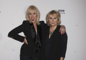 Joanna Lumley and Jennifer Saunders on the Showcase red carpet on Monday. Pic by © BBC Worldwide