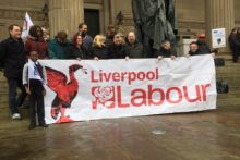 Dozens of teachers from schools across Merseyside gathered to protest against education cuts.