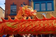 Liverpool's annual colourful Chinese New Year celebrations went off with a bang in Chinatown.