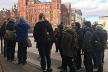 Lecturers at the University of Liverpool walked out on strike for three days in a dispute over pensions.