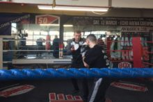 Scouse fighters put on a public training session ahead of a huge night for local boxing.
