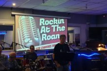 Rock 'n' roll bands took to the stage to help fight the battle against cancer.