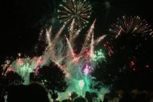 Heavy gusts of winds caused fear at a fireworks display which had to be cancelled.