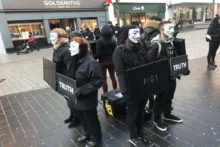 "A demonstration was staged in Liverpool in an attempt to lead bystanders ""to a vegan conclusion""."