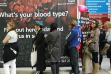 People in the city were the chance to find out what their blood group is to encourage more donors.