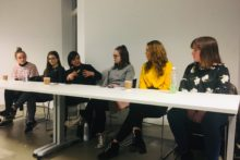 Presenter Angela Samata gave a guest talk as she joined a panel discussion during LJMU's health and wellbeing week.