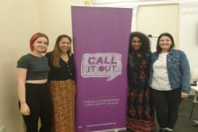 Activists hosted a panel event to speak about gender violence and the need to Reclaim the Night.