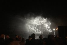 West Kirby's Marine Lake was transformed into another universe at a dazzling light show.