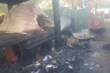 A community garden project has set its sights on the future after vandals broke in and started a fire.