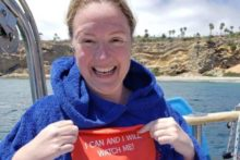 A bold bid is underway to become the first British woman to complete a swimming challenge in all the oceans of the world.