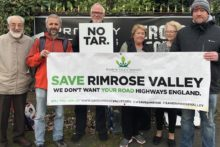 Angry campaigners say they will continue their fight to stop Highways England building a major new road.