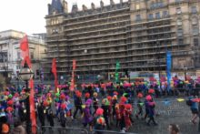 Thousands of people in multicoloured wigs descended on St George's Hall for the Scouse 5K run.