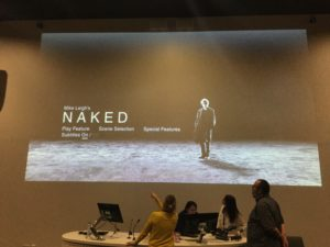 Screening of Mike Leigh's Naked. Pic © Demi Williams JMU Journalism