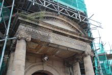 A former library briefly reopened its doors for the public to see progress on the restoration of the listed building.