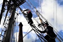 The Tall Ship Zebu, moored at Canning Dock, is being used to raise money for Children in Need.