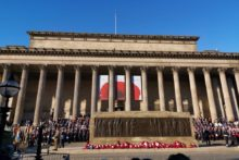 Crowds gathered in Liverpool and across the UK to honour the fallen on Remembrance Sunday.