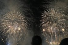 Thousands of people gathered on the banks of the Mersey as the River of Light fireworks display returned.