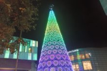 Liverpool One switched on its Christmas tree lights to start the festive fun in the city centre.