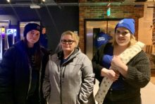 Everton FC Women's team joined more than 130 fans as the annual Goodison Sleepout took place.