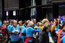Despite events being cancelled amid coronavirus concerns, the Alzheimer's Society's Liverpool Glow Walk pressed on.