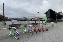 Liverpool has started a year-long trial of e-scooters as a socially distanced alternative to public transport.