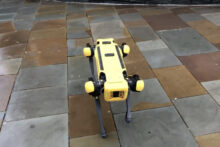 The demonstration of newly released robot dogs has caused a stir across Liverpool.