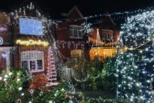 A Wirral street has wasted no time getting in the festive spirit to raise money for charity.