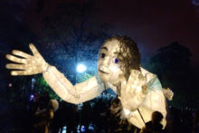 Hundreds of revellers gathered in Sefton Park for a spooky night-time edition of the annual Halloween Lantern Carnival.