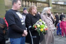 A vigil was held for murdered teenager Andrew Jones, ten years after he died following being attacked on a night out in Liverpool.