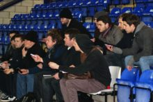 Our trainee sports reporters joined experienced journalists at Chester FC's Exacta Stadium for a live match reporting exercise.