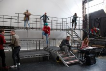 JMU Journalism gets a sneak preview as the cast of Rent prepares for a concert at the Echo Arena.