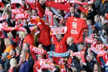 Around 25,000 gathered at the Anfield memorial service on the 25th anniversary of the Hillsborough disaster.
