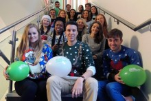 JMU Journalism embraced the spirit of Christmas as students and staff held a charity fundraising event for Macmillan Cancer Support.