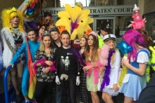 Nightclub Garlands has been forced to stay shut for three months following drug dealing allegations, despite a vocal and colourful protest.