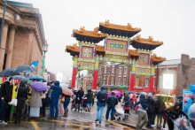Not even the pouring rain could dampen spirits as Liverpool's Chinatown hosted the Chinese New Year celebrations.