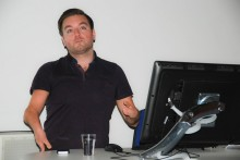 TV presenter, funny man and disability champion Alex Brooker returned to JMU Journalism to share his experiences with students.