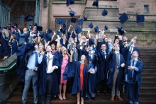 A rainy day failed to dampen the spirits of the Class of 2015 students as they celebrated graduation day in Liverpool.