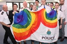 Merseyside Police officers are wearing rainbow-coloured laces to kick-start awareness for LGBT history month.