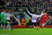 Liverpool secured a 2-0 victory over arch rivals Manchester United in their first ever meeting in Europe.